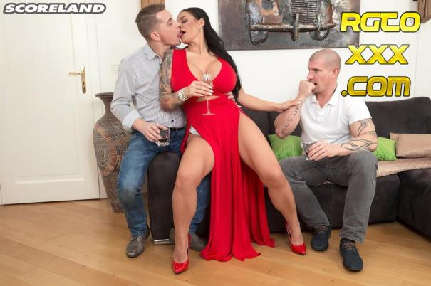 Sandra Sturm [PornMegaLoad.com] Big Tit Sex Star Gets Two Studs [2018/SD]