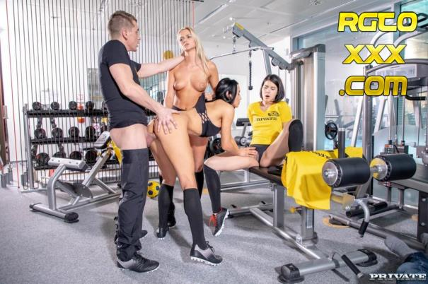 ANA ROSE, KATY SKY, LADY DEE [Private.com] Lady Dee, Anna Rose and Katy Sky fuck the trainer [2018/FullHD]