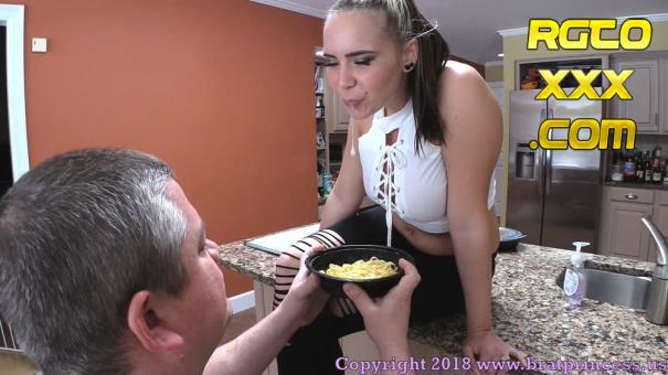 Natalya [BratPrincess.us] Food And Spit Humiliation (Eat Off The Floor, Fat Pig!) [2018/FullHD]